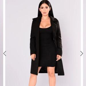 Black fashion nova trench coat